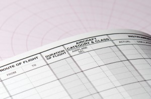 pilot logbook page