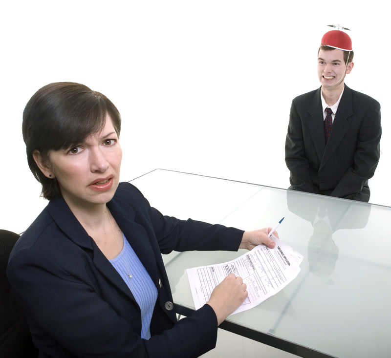 Don't do this at your job interview!